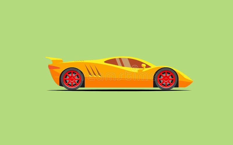 Einfaches stilisiertes Auto trägt Coupé zur Schau stock abbildung