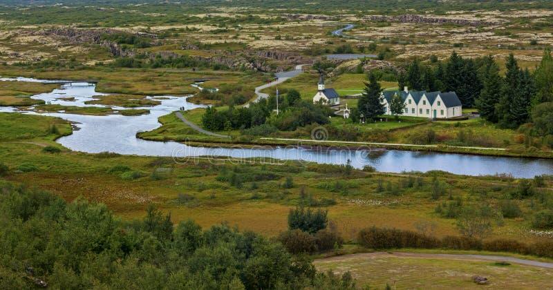 Einfaches thingvellir Nationalpark in Reykjavik kommt zum goldenen Kreis Islands herein lizenzfreies stockfoto
