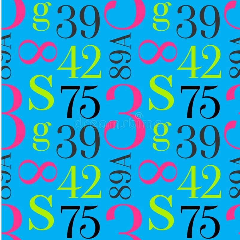 Einfaches typografisches Muster stock abbildung