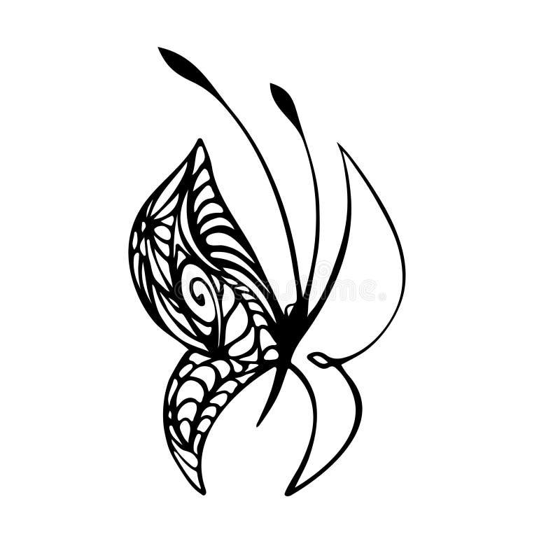 Einfaches Vektorbild des Schmetterlinges vektor abbildung