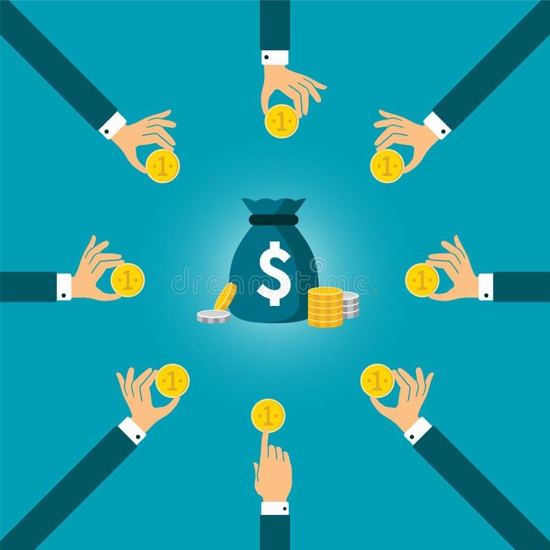 Einfaches Vektorkonzept der Einsparungen in der flachen Art lizenzfreie abbildung