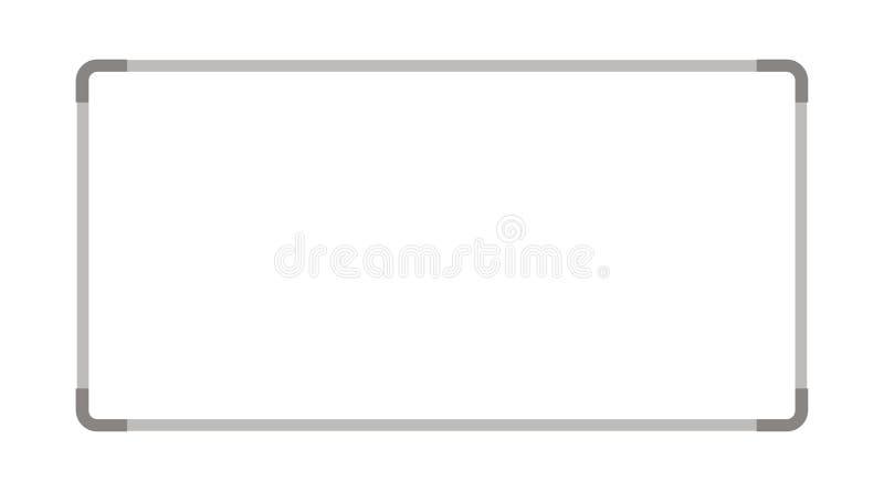 Einfaches weißes Brett bekannt gegeben auf der Wand lizenzfreie abbildung