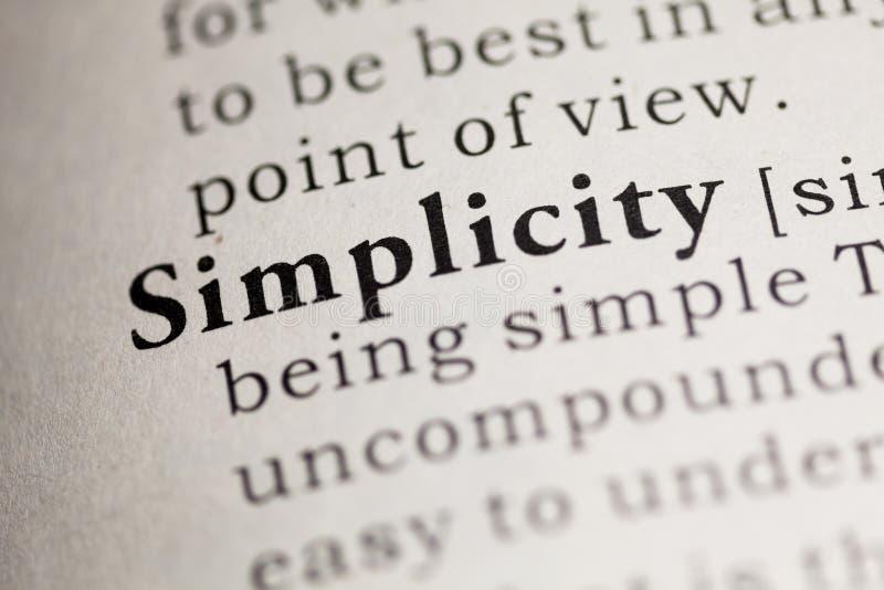 einfachheit stockbild