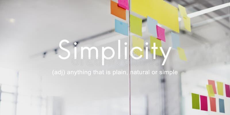 Einfachheits-unbedeutendes Leichtigkeits-Design-Einfachheits-Konzept lizenzfreie stockbilder