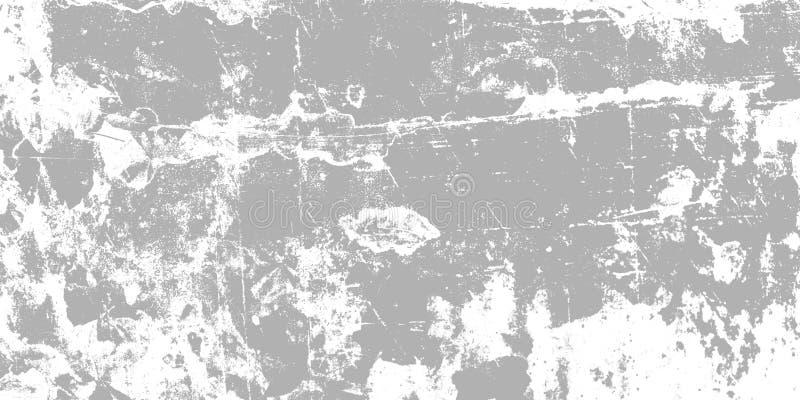 Einfarbige abstrakte Beschaffenheit Hintergrund von Sprüngen, Verschleiß, Chips, Flecke, Tintenstellen vektor abbildung