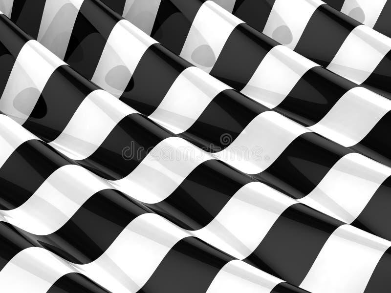 einfarbige gestreifte Wellen 3d vektor abbildung