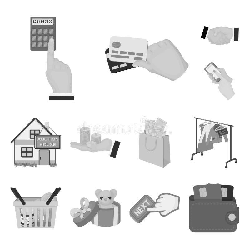 Einfarbige Ikonen des E-Commerce und des Geschäfts in der Satzsammlung für Design Vektorsymbol-Vorratnetz kaufen und verkaufend vektor abbildung