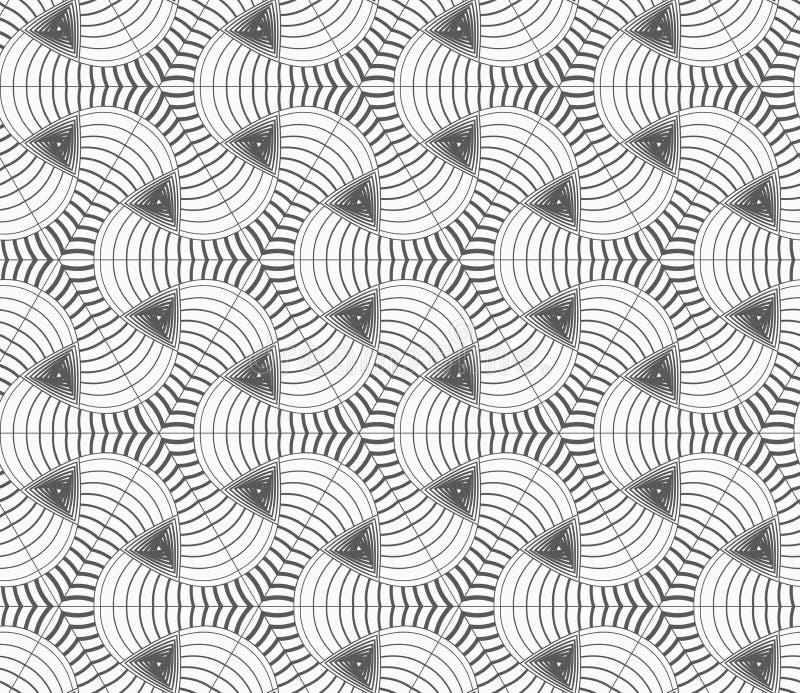 Einfarbige lineare gestreifte tetrapods und Dreiecke vektor abbildung