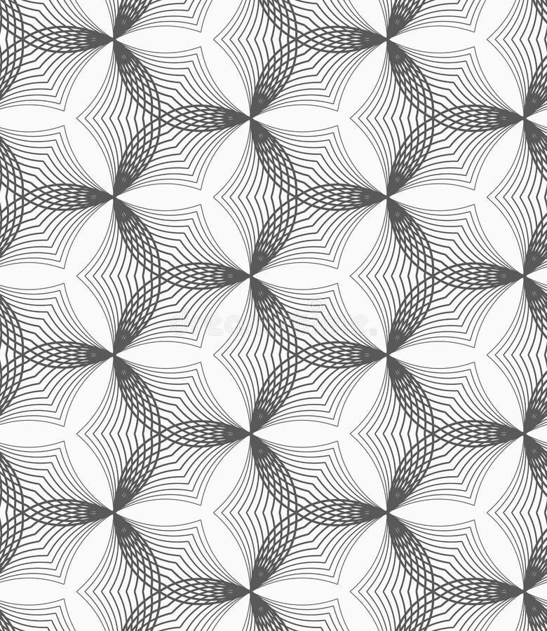 Einfarbige lineare gestreifte verzogene Hexagone stock abbildung