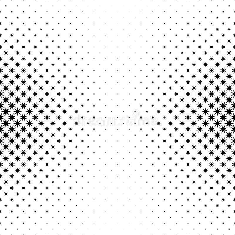 Einfarbige Sternchen-Vereinbarung - abstrakte Vektorhintergrundillustration von den geometrischen polygonalen Formen stock abbildung