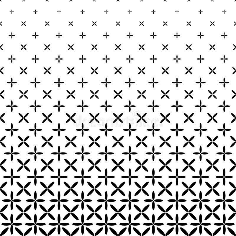 Einfarbiger abstrakter Ellipsenmusterhintergrund - geometrische Vektorschwarzweiss-graphik vektor abbildung