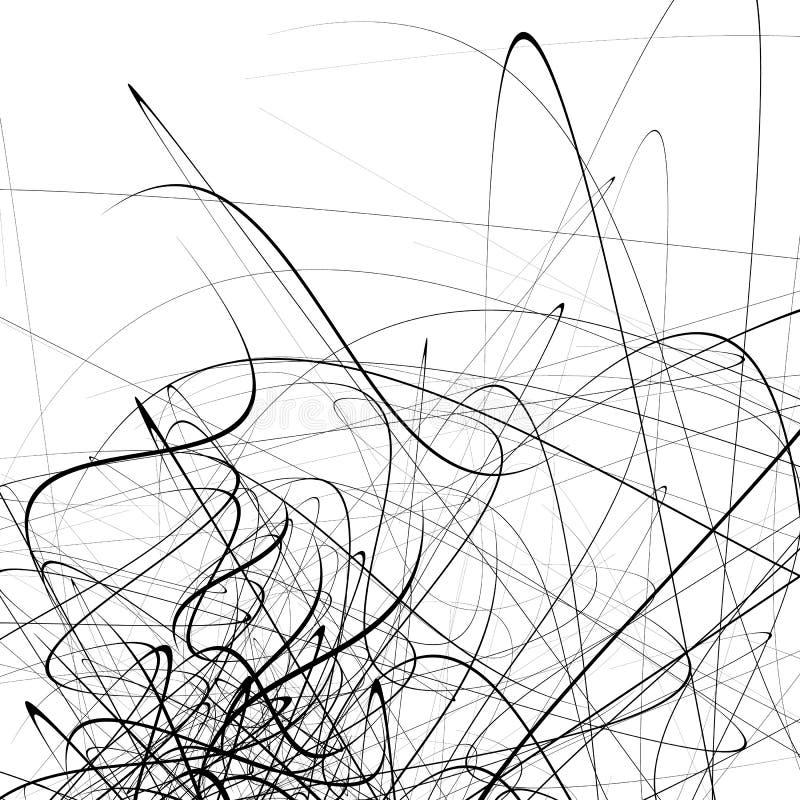 Einfarbiger gelegentlicher chaotischer Squiggle zeichnet abstraktes künstlerisches patte lizenzfreie abbildung