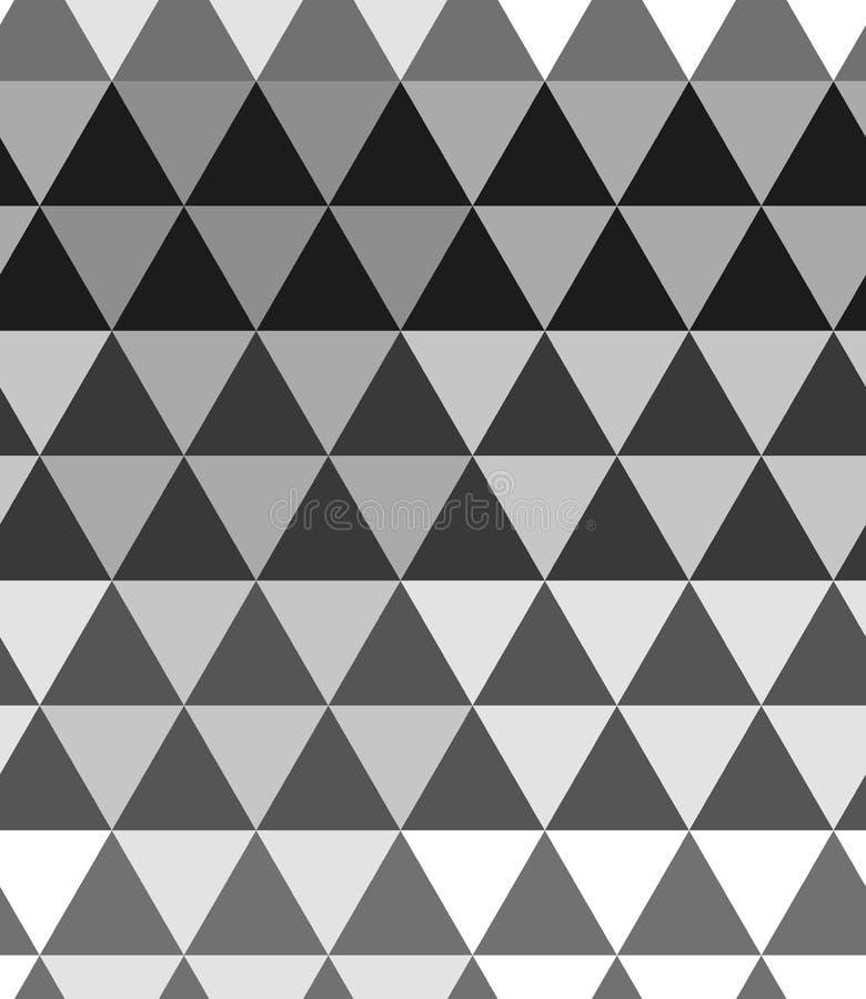 Einfarbiger nahtloser Musterhalbtonhintergrund Abstrakte Dreieckbeschaffenheit lizenzfreie abbildung