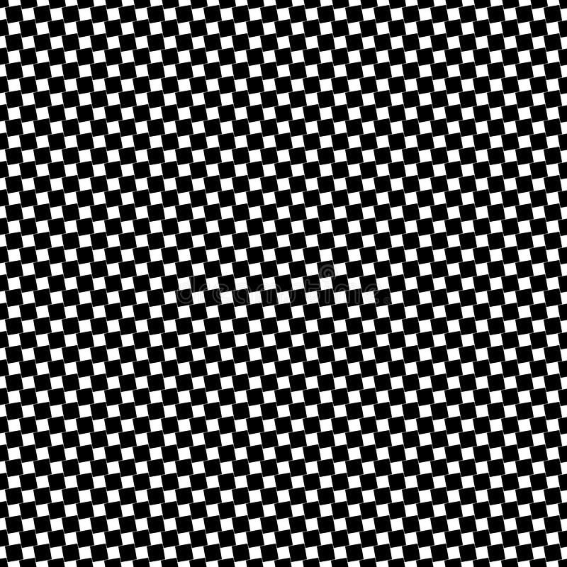 Einfarbiger nahtloser quadratischer Musterhintergrund - geometrische Vektorschwarzweiss-illustration von den eckigen Quadraten vektor abbildung
