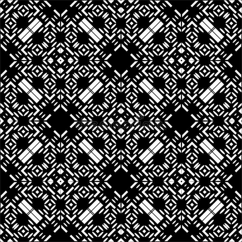 Einfarbiges nahtloses Muster im weißen Hintergrund lizenzfreie abbildung