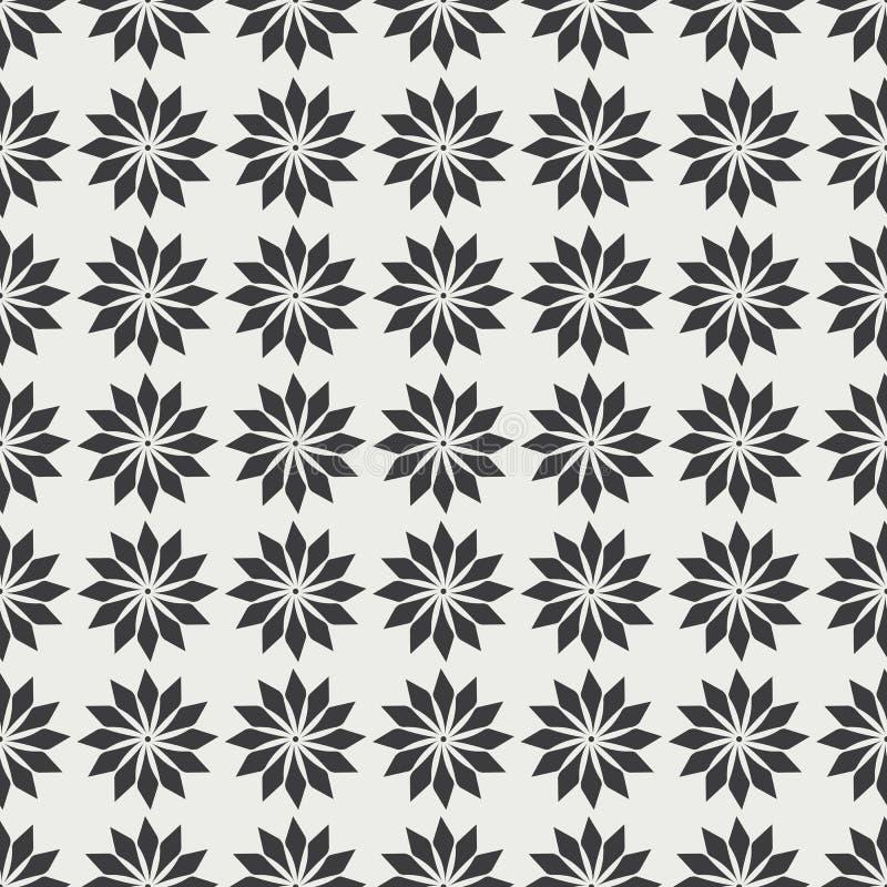 Einfarbiges nahtloses Muster mit stilvollen dekorativen Elementen vektor abbildung