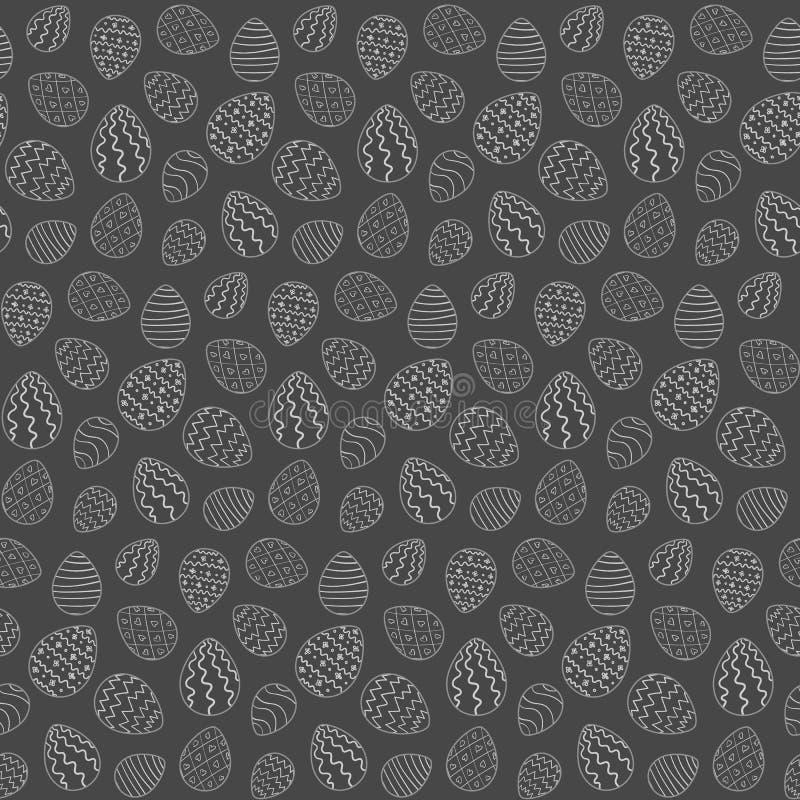 Einfarbiges nahtloses Muster Ostern mit Eiern lizenzfreie abbildung