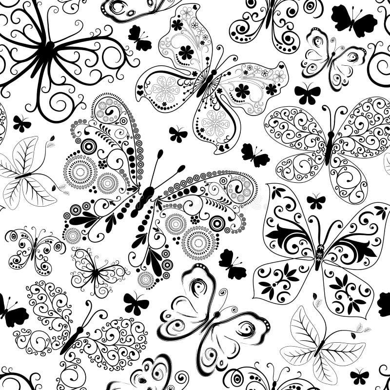 Einfarbiges schwarzes nahtloses Muster stock abbildung