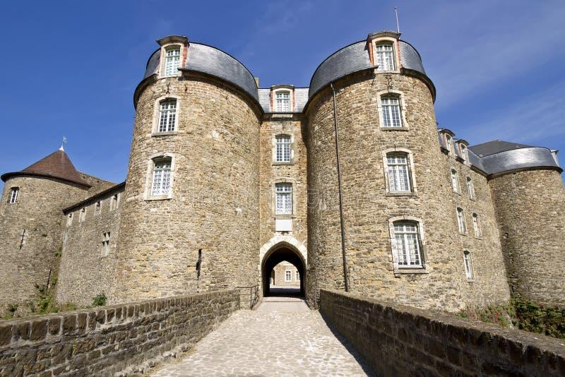 Eingang Châteaude Boulogne-sur-Mer lizenzfreie stockbilder