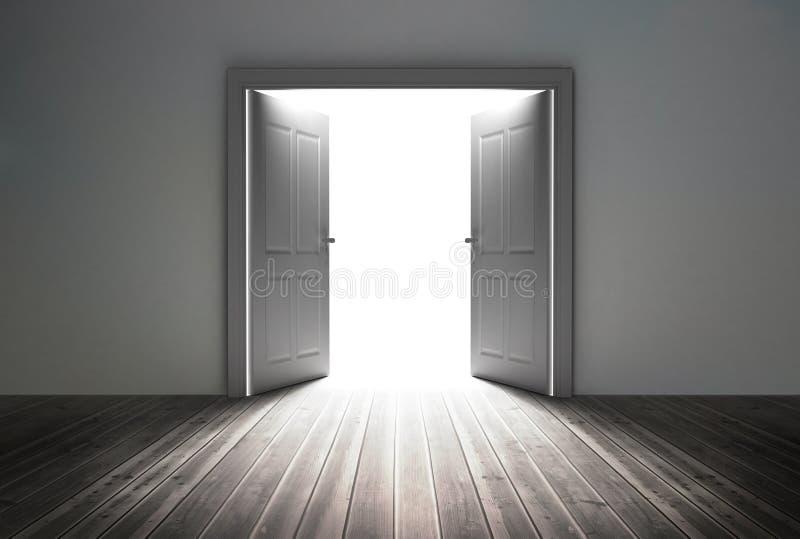 Eingang, der helles Licht aufdeckt vektor abbildung