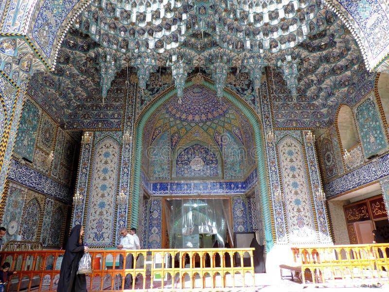 Eingang des heiligen Schreins von Abbas Ibn Ali, Kerbela, der Irak lizenzfreies stockbild