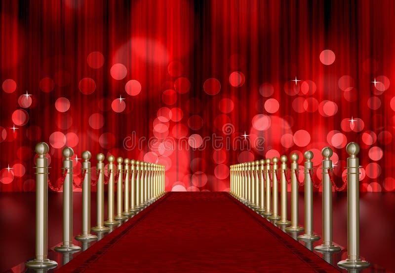 Eingang des roten Teppichs stock abbildung