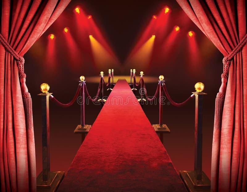 Eingang des roten Teppichs stockbilder