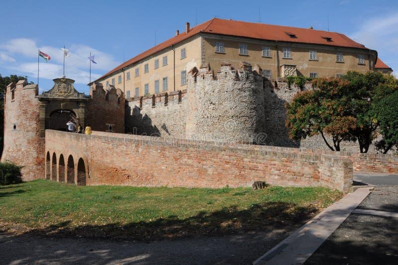 Eingang des Schlosses von Siklos, lizenzfreie stockfotografie