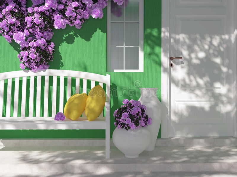 Eingang eines Hauses lizenzfreies stockbild