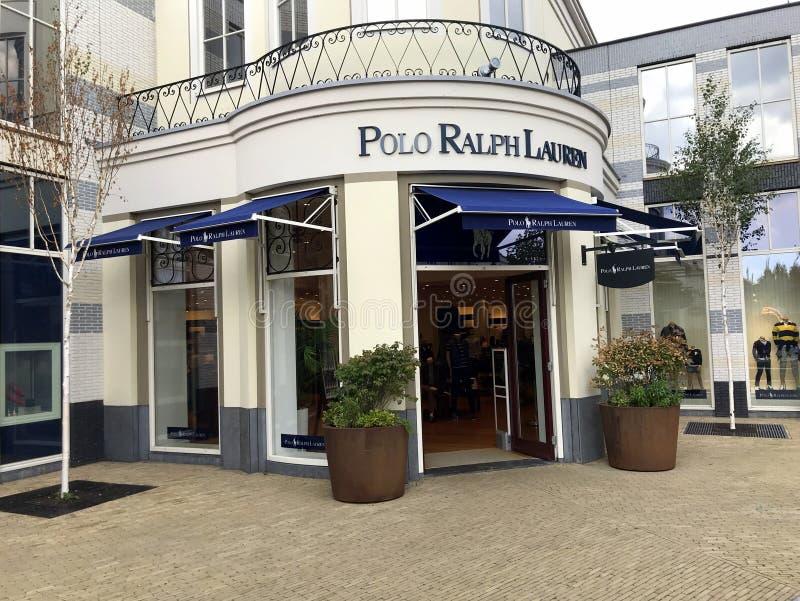 Eingang eines Polo Ralph Lauren-Speichers stockbild