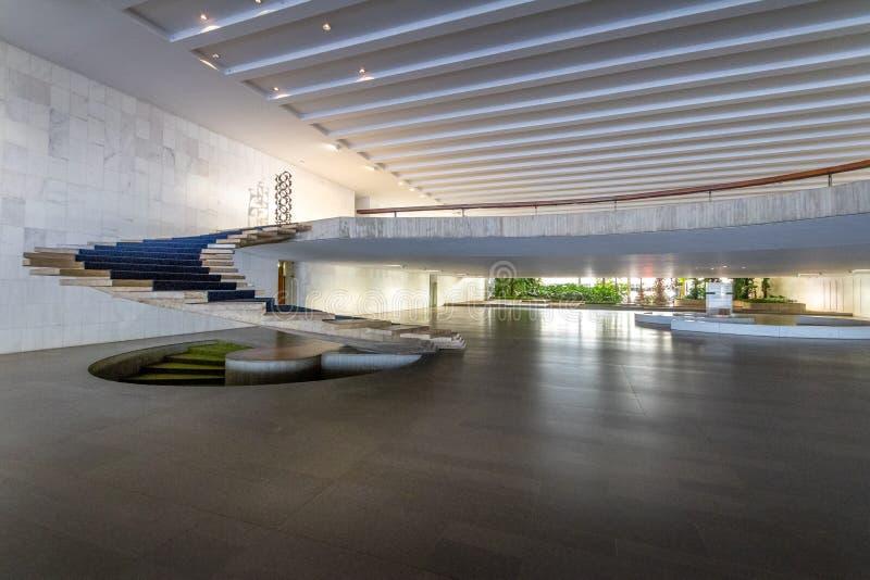 Eingang Hall des Itamaraty-Palastinnenraums - Brasilien, Distrito föderativ, Brasilien lizenzfreie stockfotos