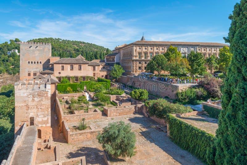 Eingang Nasrid-Paläste, Alhambra, Granada stockfotografie