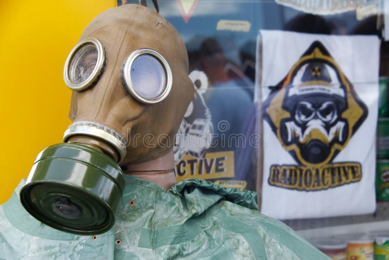 Am Eingang Tschornobyls zur Ausschlusszone lizenzfreie stockbilder