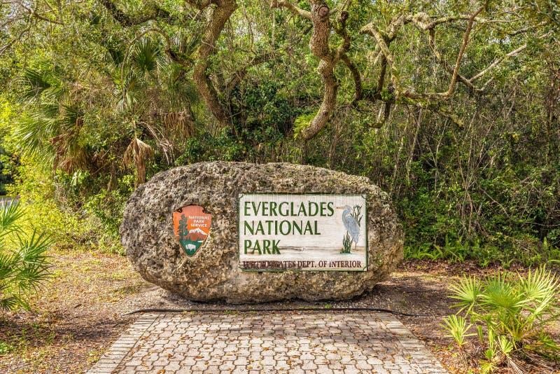 Eingang unterzeichnen herein die Sumpfgebiete stockbild
