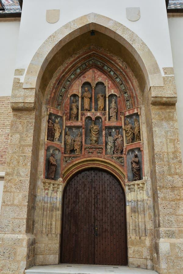 Eingang von der des St Mark Kirche lizenzfreie stockfotos