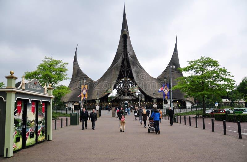 Eingang von Efteling, Freizeitpark, die Niederlande lizenzfreie stockbilder