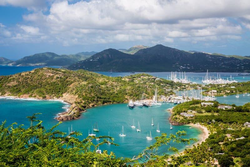 Eingang zu Antigua-Yachtclub stockfoto