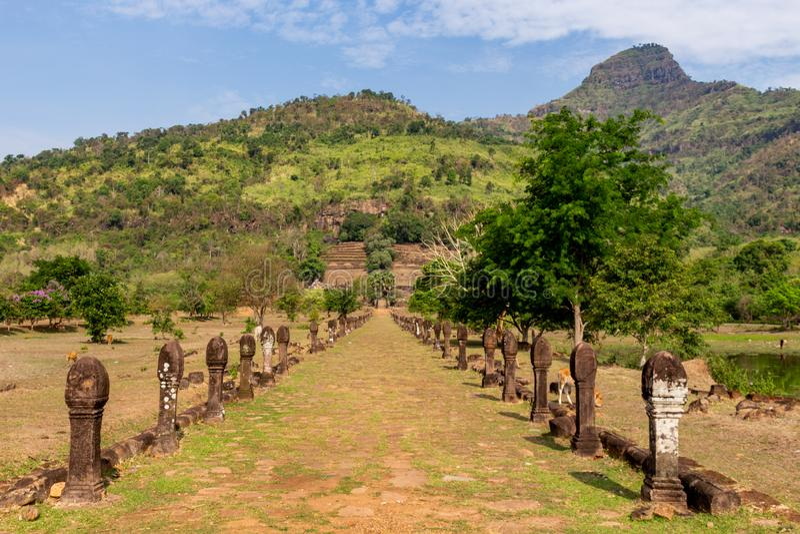 Eingang zu Bottich Phou-Tempel Laos lizenzfreies stockfoto