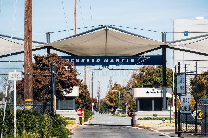 Eingang zu den Lockheed Martin-Anlagen lizenzfreies stockfoto