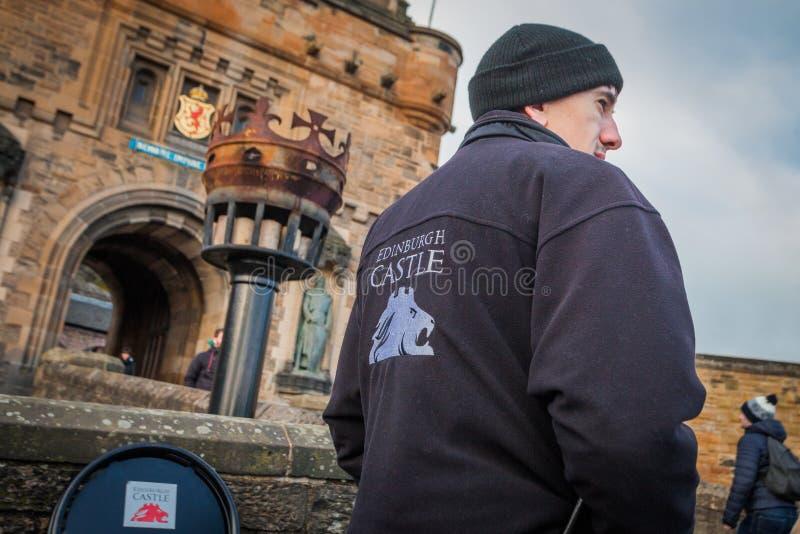 Eingang zu Edinburgh-Schloss lizenzfreie stockfotografie