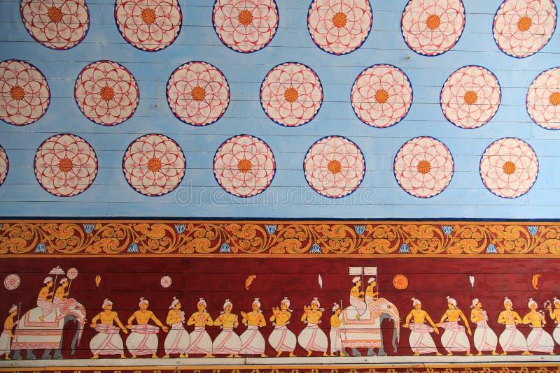 Eingang zu Sri Dalada Maligawa oder der Tempel vom heiligen Zahn-Relikt lizenzfreie stockbilder
