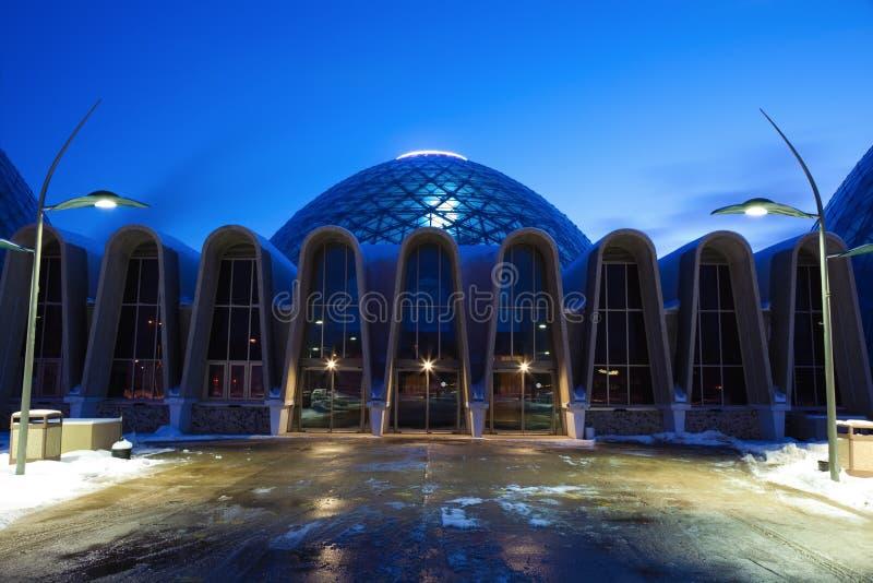 Eingang zum botanischen Garten in Milwaukee lizenzfreies stockfoto