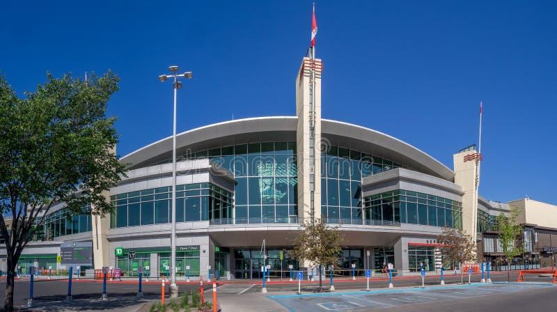 Eingang zum Chinook-Mitteeinkaufszentrum stockbild