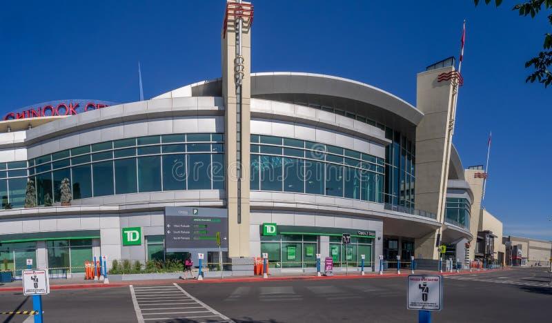 Eingang zum Chinook-Mitteeinkaufszentrum lizenzfreies stockfoto