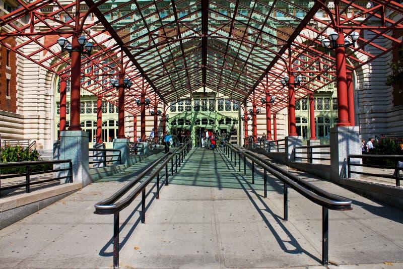 Eingang zum Ellis Island lizenzfreies stockbild