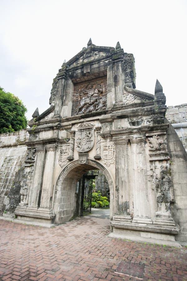 Eingang zum Fort Santiago in Intramuros, Manila, Philippinen lizenzfreie stockbilder
