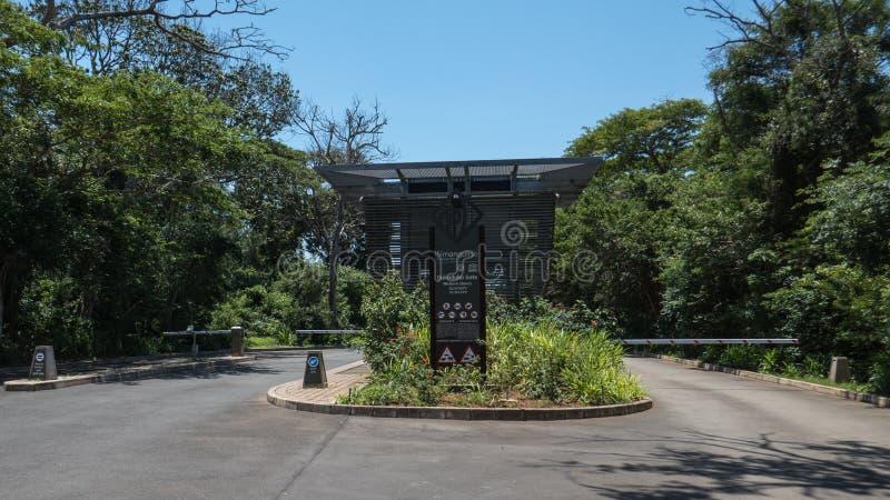 Eingang zum iSimangaliso Sumpfgebiet-Park stockbilder
