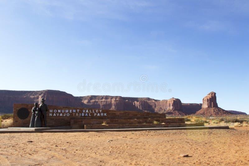 Eingang zum Monument-Tal stockfoto