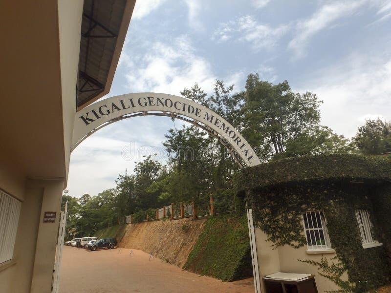 Eingang zum nationalen Genozid-Denkmal, Kigali, Ruanda stockfotos