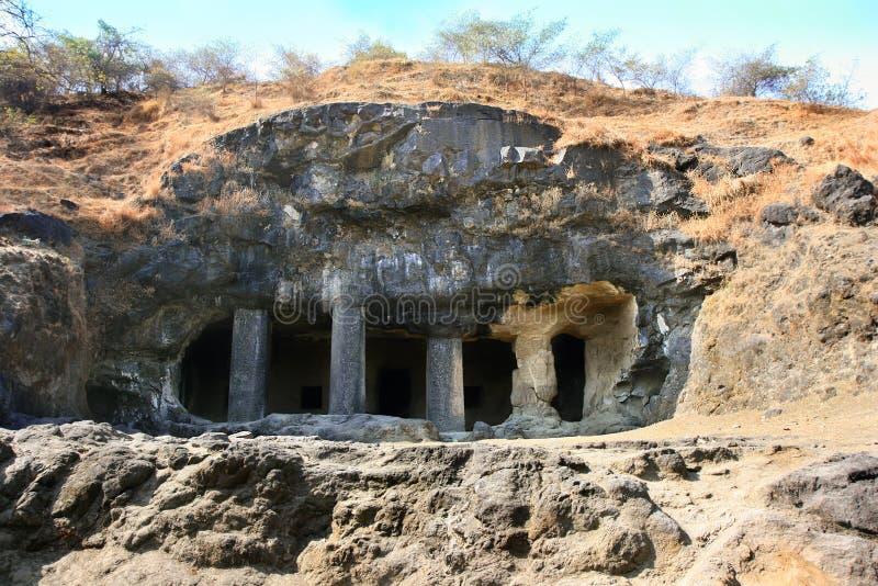 Eingang zum Shiva Höhletempel lizenzfreies stockfoto
